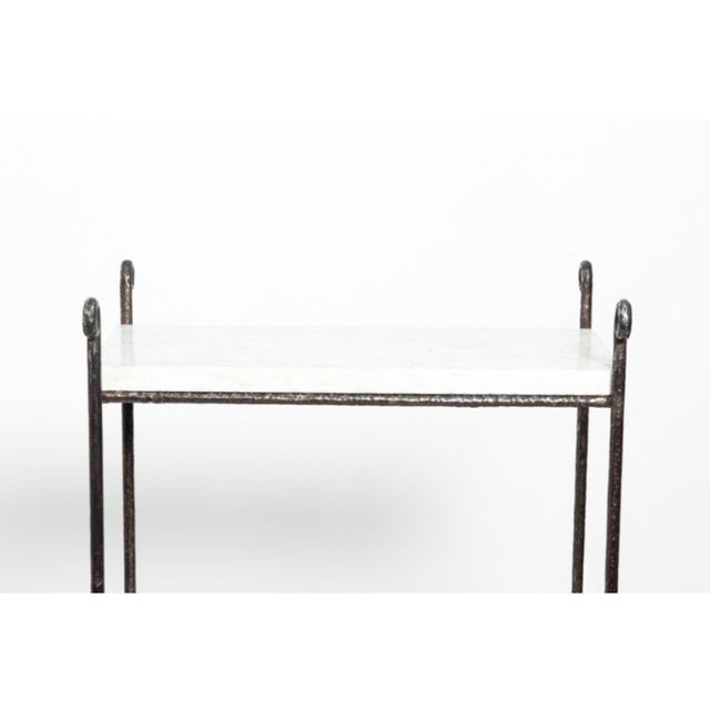 Early 21st Century Contemporary Iron and Marble Shelves - a Pair For Sale - Image 5 of 9