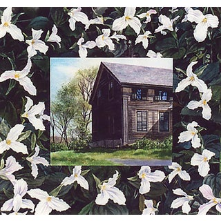 """""""White Trillium"""" Original Watercolor on Paper by Kathleen Kolb For Sale"""
