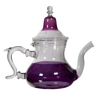 Moroccan Purple Glass Teapot For Sale