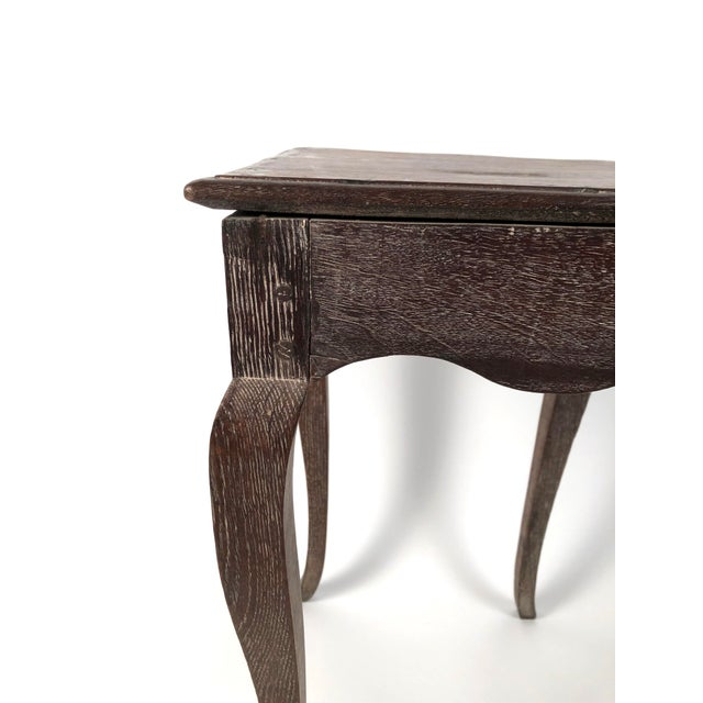 Small Louis XV Style Walnut and Limed Oak Side Table For Sale In Boston - Image 6 of 11