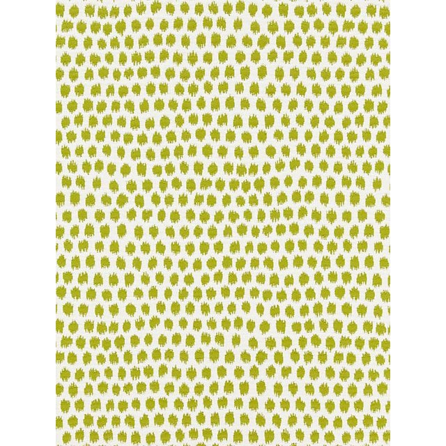 Transitional Scalamandre Dot Weave, Chartreuse Fabric For Sale - Image 3 of 3