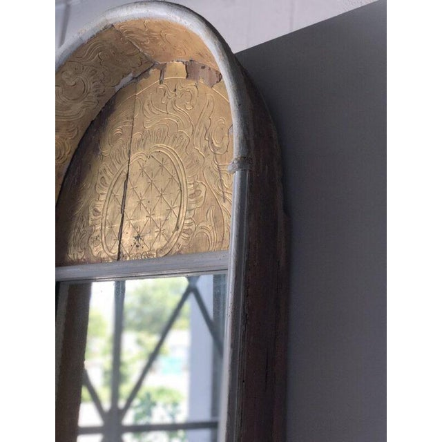Spanish 19th Century Spanish Gilded Niche Mirror For Sale - Image 3 of 6