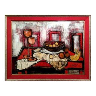 "John Irwin Friedman ""Set Table"" Still Life Oil Painting For Sale"