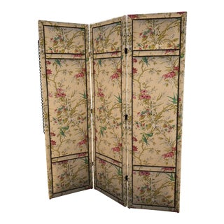 Lee Industries Floral Upholstered Room Screen For Sale