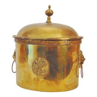Regency Style Brass Tea Caddy For Sale