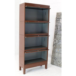 1970s Mid-Century Modern Tall Metal Six Sections Barrister Bookcase Preview