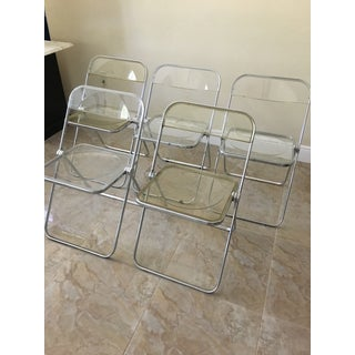 1970s Vintage Italian Plia Acrylic Folding Chairs - Set of 5 Preview