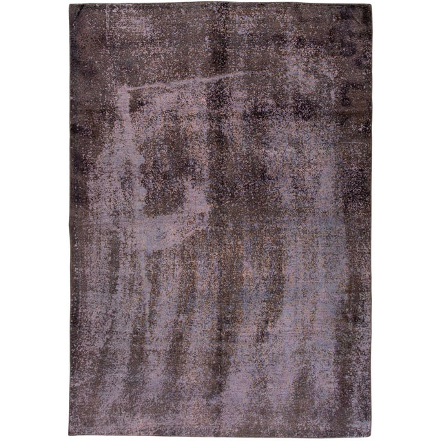 Vintage Overdyed Rug For Sale