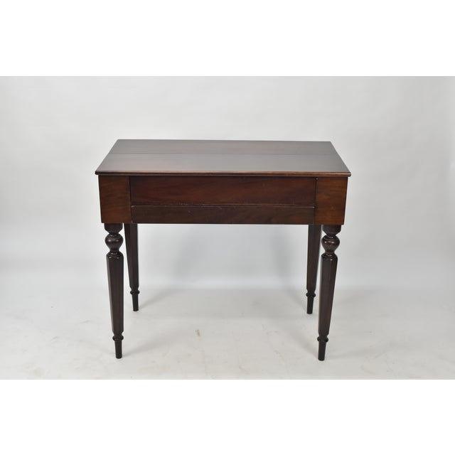 This desk is in exceptional condition for its age. It was my great  grandfathers desk - Bay View Furniture Co. Antique Mahogany Spinet Desk Chairish