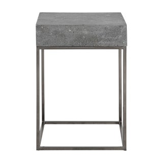 Square Concrete End Table For Sale