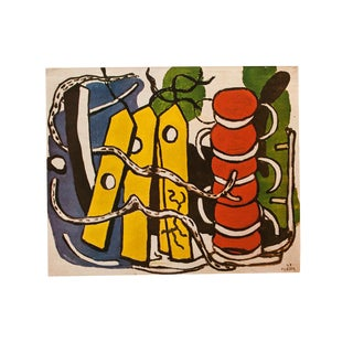 "1948 Fernand Léger Original Period ""The Yellow Labels"" Parisian Lithograph For Sale"