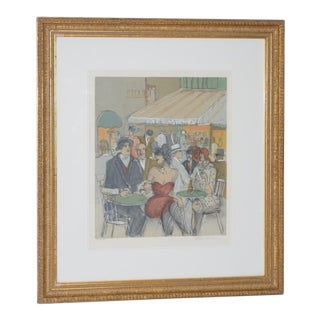 "Isaac Maimon ""Cafe Michel"" Limited Edition Serigraph For Sale"