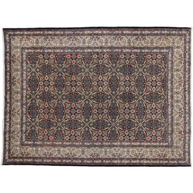 "Vintage Persian Mashad Wool Rug - 8'5"" X 11'2"" For Sale"
