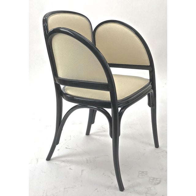 1910s Maison Thonet Rare Set of Black Lacquered Bent Wood Five Pieces Set For Sale - Image 5 of 9