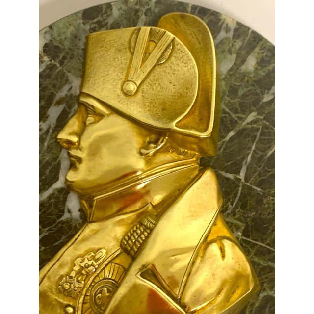 Gold Pierre Jean David d'Anger Ormolu & Marble Portrait Plaque of Napoleon For Sale - Image 8 of 9