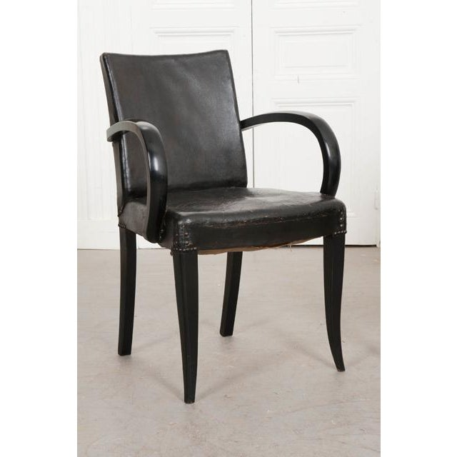 French 20th Century Art Deco Ebony Armchairs - a Pair For Sale - Image 4 of 10