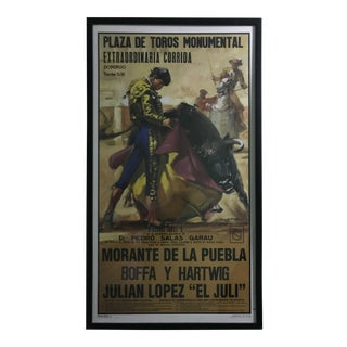 Mid-Century Poster Bull Fighting For Sale