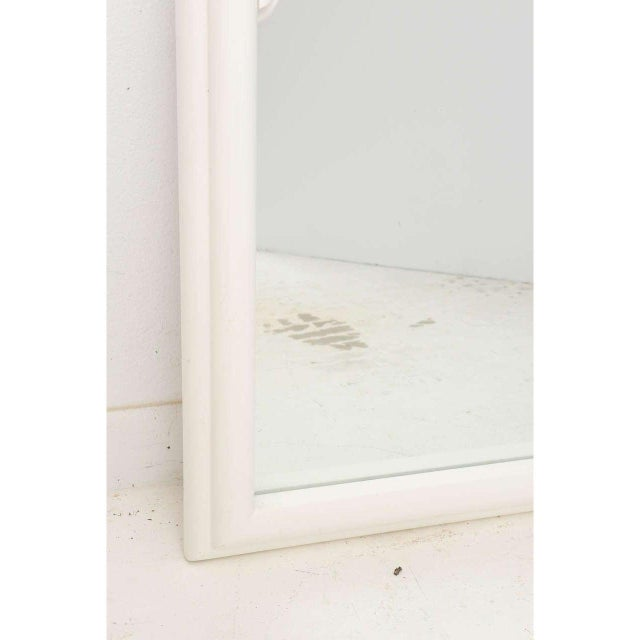 Vintage Dorothy Draper White Lacquer Mirror Hollywood Regency Art Deco For Sale - Image 9 of 12