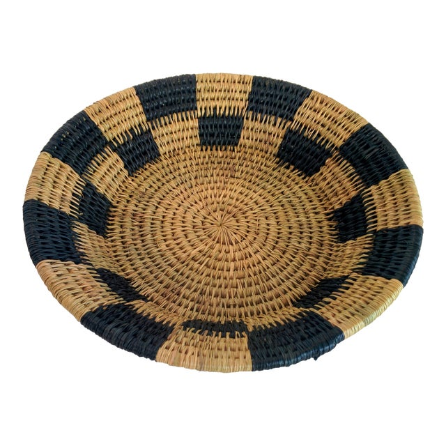 Handwoven African Catch All Boho Chic Basket - Image 1 of 8