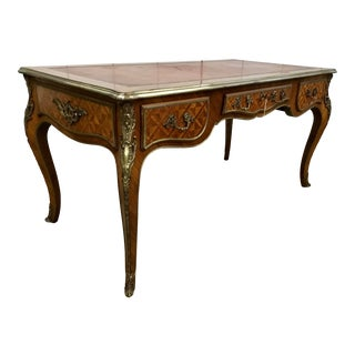Late 19th-Early 20th Century French Louis XV Bureau Plat For Sale
