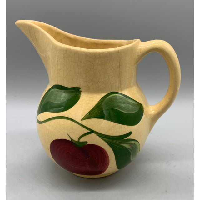 Watt Pottery's Apple Pitcher For Sale - Image 4 of 9