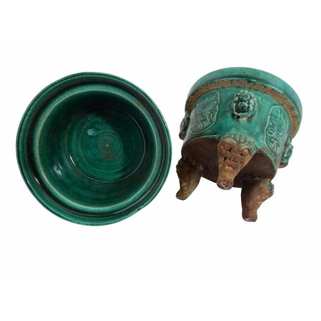 Asian Celadon Ceramic Incense Burners- A Pair - Image 4 of 6