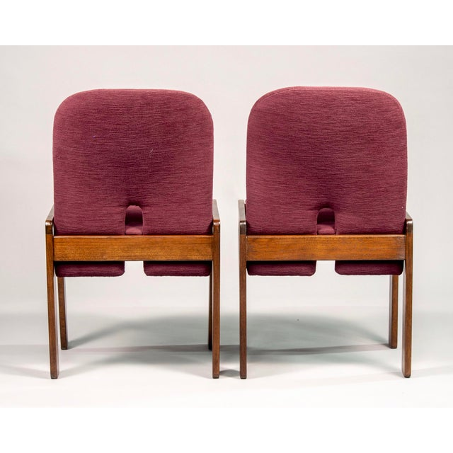 Afra and Tobia Scarpa 121 Walnut Dining Chairs for Cassina, Set of 8 For Sale In Detroit - Image 6 of 11