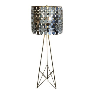 Serena Mirrored Floor Lamp From Oly Studio For Sale