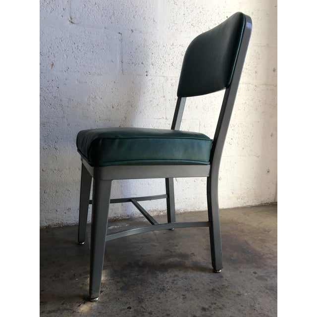 Green Vintage Office Industrial Chairs by Techfab Furniture Missouri (A Pair) For Sale - Image 8 of 13