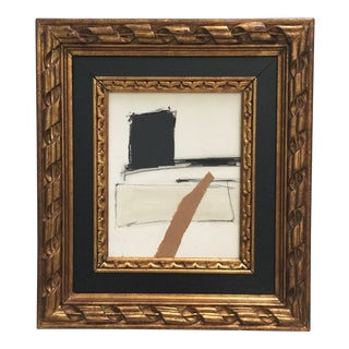 Abstract Painting Collage Black Frame For Sale