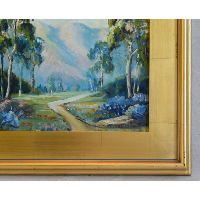 Abstract Artist Marie Buck Plein Air Framed Landscape Oil Painting For Sale - Image 3 of 9