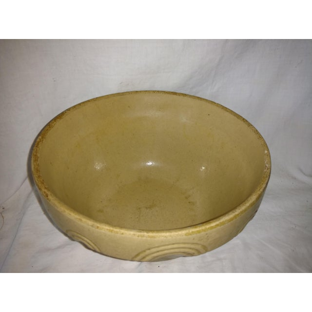 Antique 19th Century Primitive Yellow Stoneware Bowl For Sale - Image 4 of 8