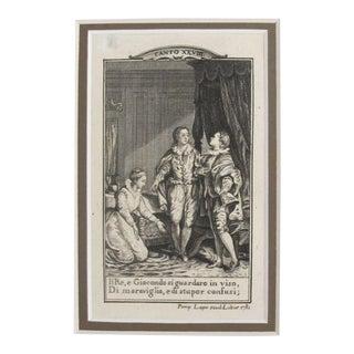 1781 Italian Engraving, Divine Comedy (Dante Alighieri) Canto 28 For Sale