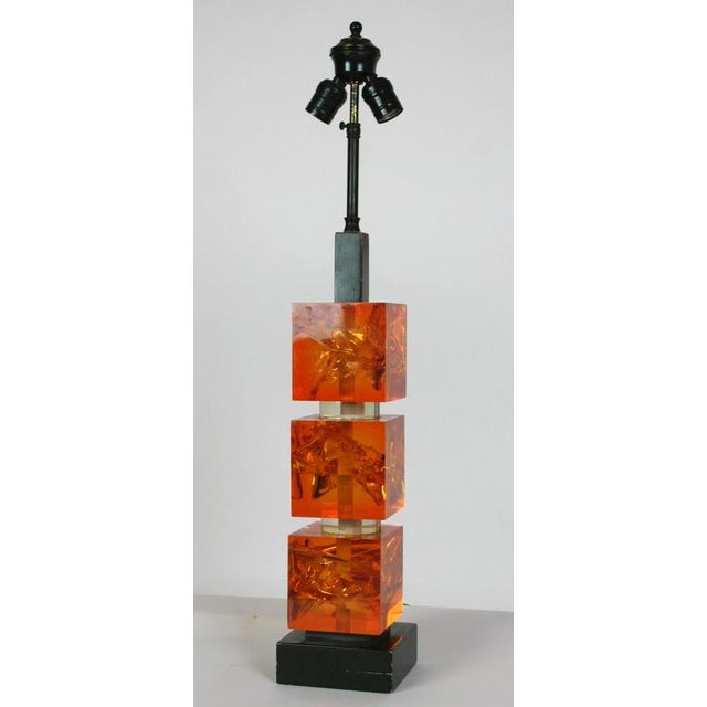 French 1970s French Fractal Resin Lamp For Sale - Image 3 of 5