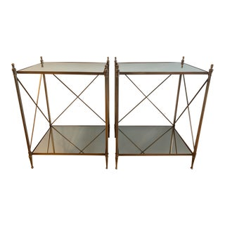 Neoclassical Campaign Directoire Side Tables - a Pair For Sale