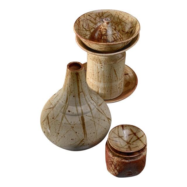 Set of Nine Franco Agnese Ceramic Pieces, France, 1960s For Sale