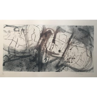 Midcentury Abstract Lithograph in the Style of Margaret Neill For Sale