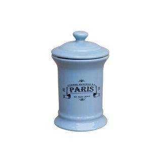 Blue Ceramic Paris Jar With Lid