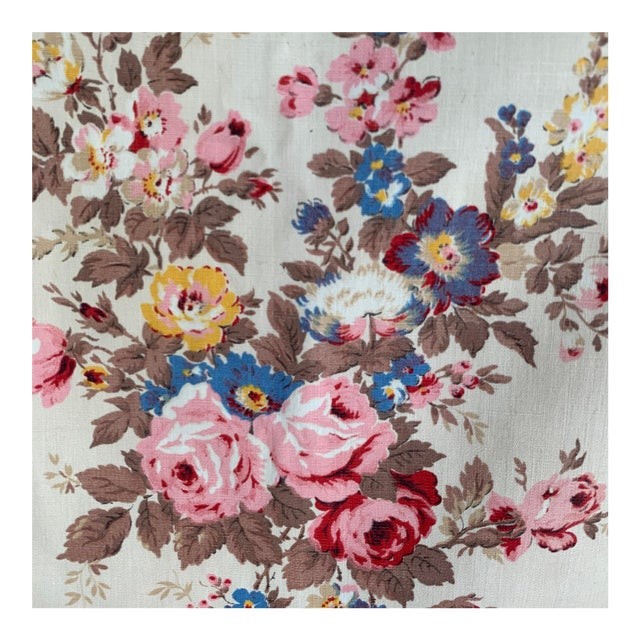 Vintage French Shabby Chic Roses Pattern Curtain For Sale