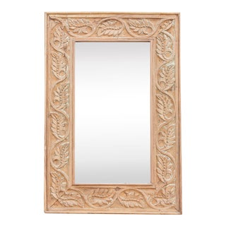 Charming Leaf Vine Carved Mirror For Sale