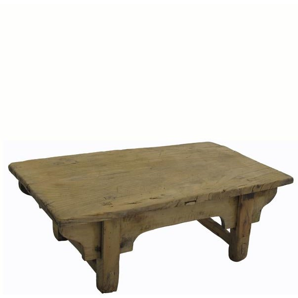Wood Small Rustic Kang Accent Table or Coffee Table For Sale - Image 7 of 7