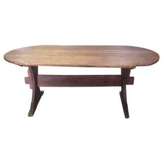 Antique Trestle Style Farm Table