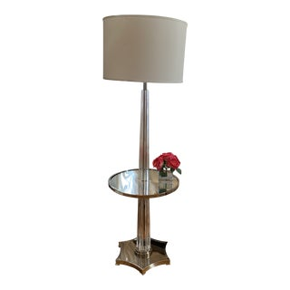 Horchow Islandia Floor Lamp With Mirrored Table For Sale