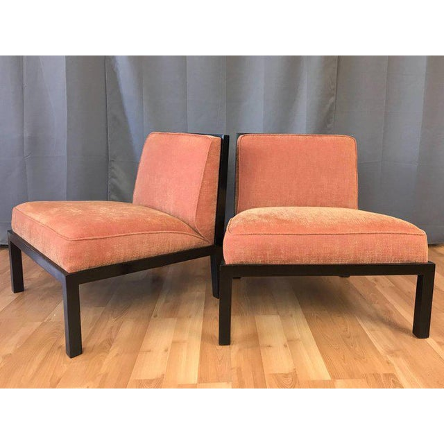 1960s Michael Taylor for Baker Far East Collection Slipper Chairs - A Pair For Sale - Image 5 of 13