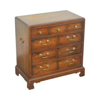 Thomasville George III Style Mahogany Small Chest of Drawers For Sale