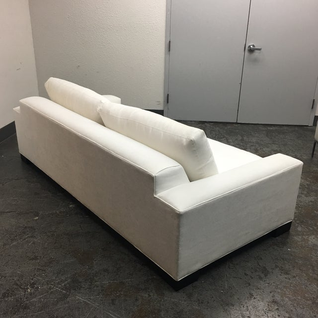 Room & Board White Ultasuede Townsend Sofa - Image 5 of 8