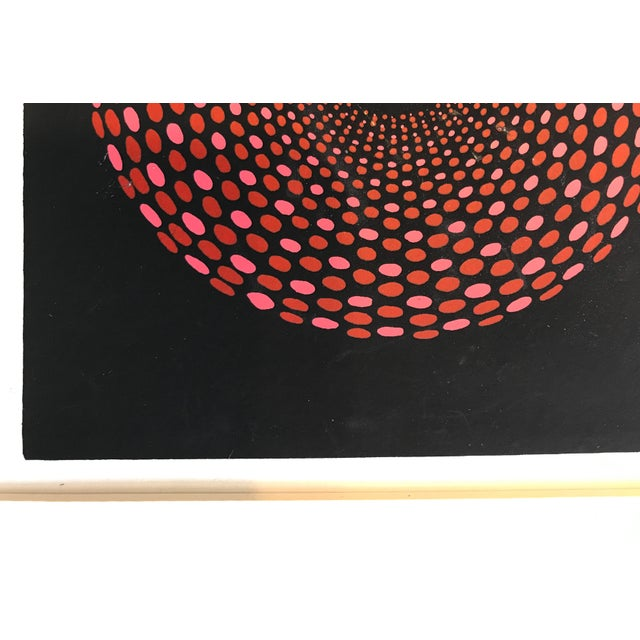 French Geometric Mid-Century Signed Print - Image 5 of 7