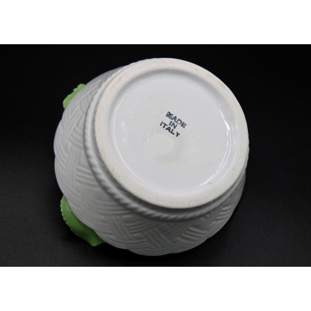 Yellow Italian Ceramic Round Lemon Basket For Sale - Image 8 of 11
