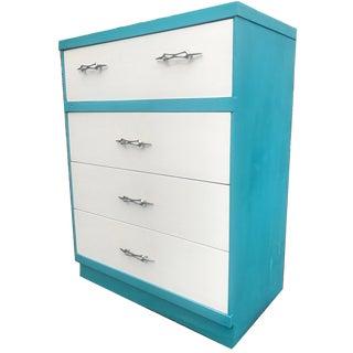 Mid Century Modern High Boy Dresser For Sale