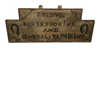 Shop Sign for Horse Shoes, American, Late 19th-Early 20th Century For Sale